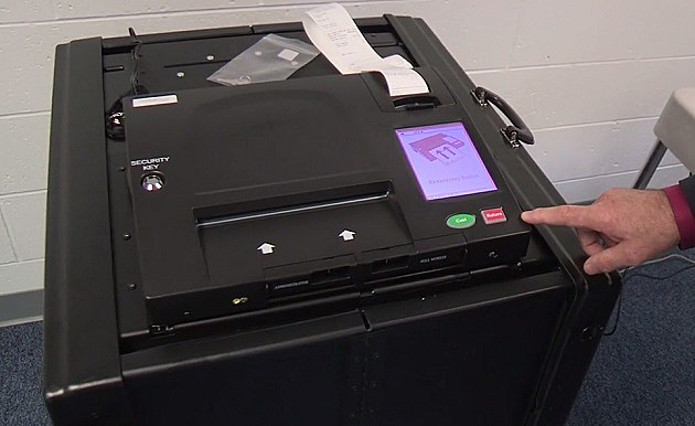 Voting machine photo courtesy Lansing City Clerk Chris Swope via Facebook