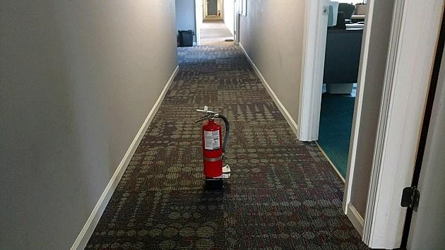 Fire Extinguisher in Hallway